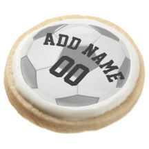 Soccer/Football Party Personalized Round Premium Shortbread Cookie
