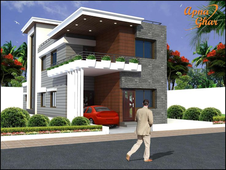 Charming 6 Bedrooms Duplex (2 Floor) House Design In 208m2 (8m X 26m). Click On This  Link (http://www.apnaghar.co.in/house Design 406.aspx) To View Free Flou2026