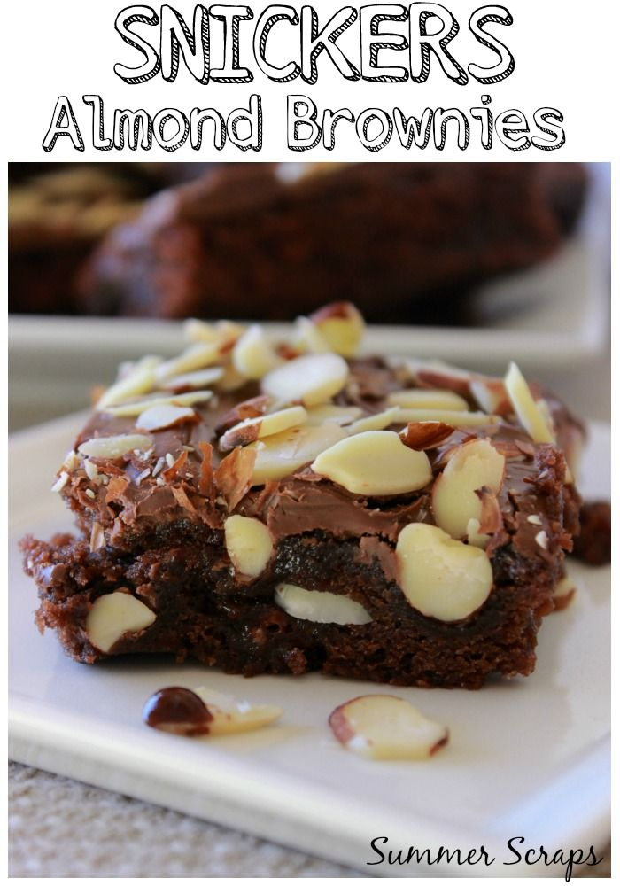 When I have time to really make a decadent treat I like to make these SNICKERS Almond Brownies. SNICKERS add the perfect touch to decadent dessert! #WhenImHungry #Ad