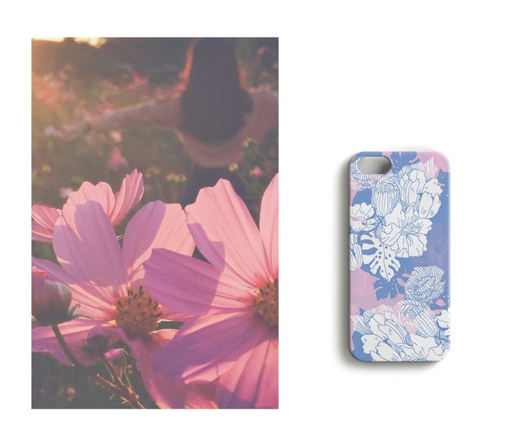 Pretty in pink //Garden Party iPhone case designed by Anna Salmi.