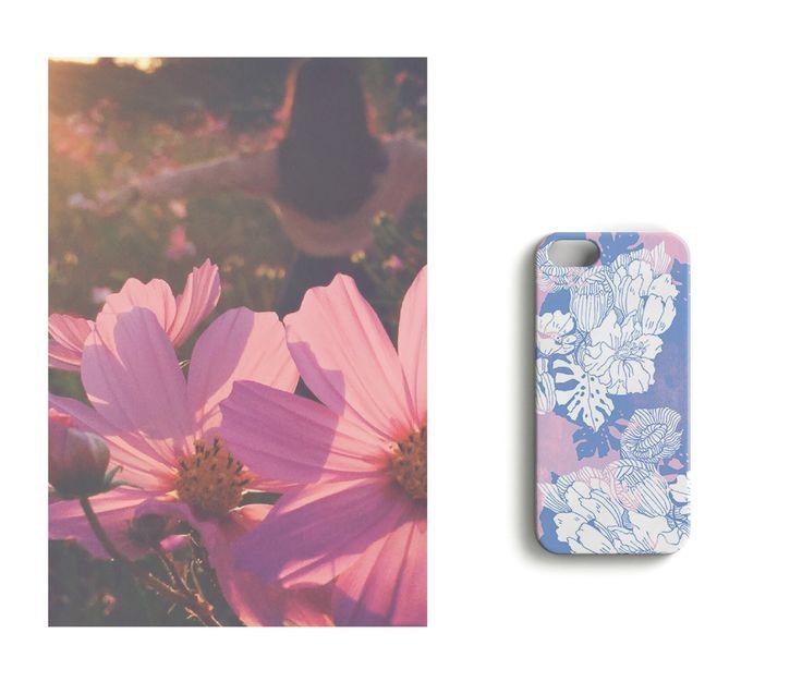 Pretty in pink //Garden Party iPhone case designed by Anna Salmi.