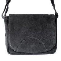 Hamosons – Kleine Damen Handtasche / Umhängetasche aus Büffel-Leder, Schwarz, Modell 575 kaufen
