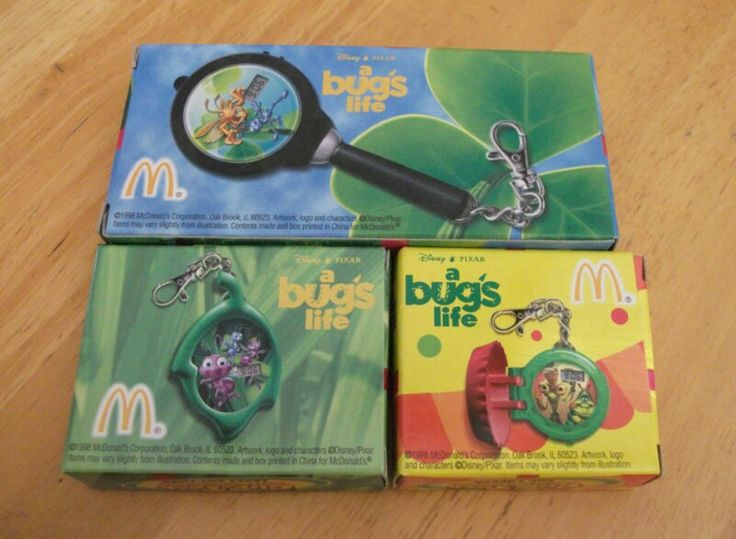 A Bug's Life keychain watches from McDonalds Happy meal