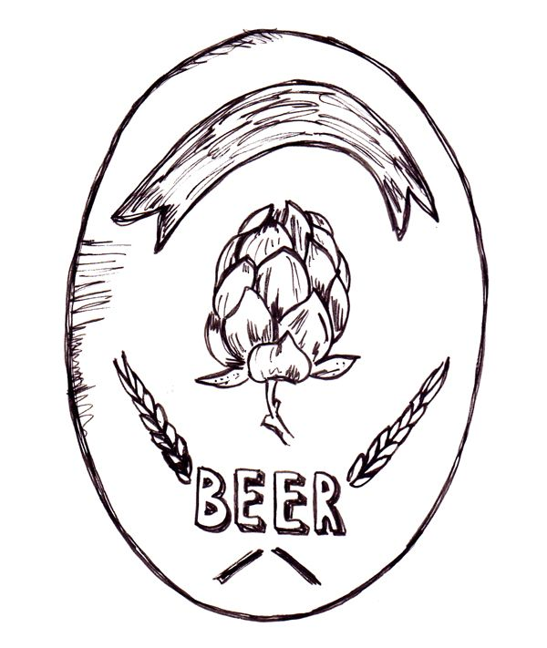 logo hope beer handmade pen - by KP