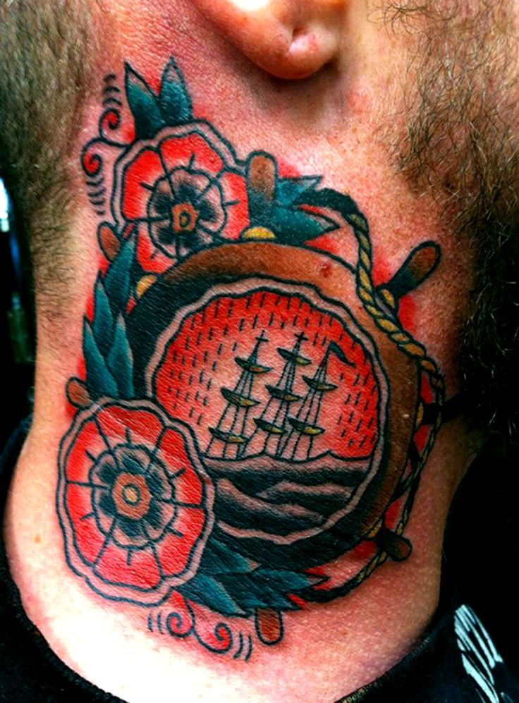 17 best images about tattoo traditional helm on pinterest ship tattoos anchors and compass. Black Bedroom Furniture Sets. Home Design Ideas