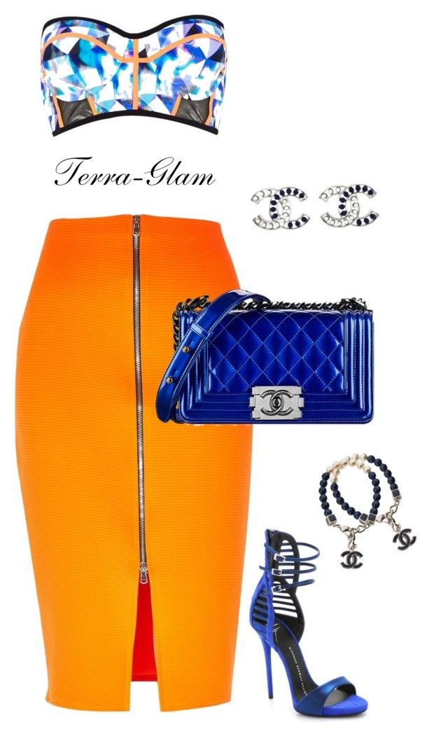 """""""Summer Love"""" by terra-glam ❤ liked on Polyvore featuring River Island, Chanel and Giuseppe Zanotti"""