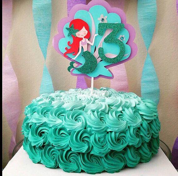 Mermaid Cake Topper Big 3 Mermaid Birthday Cakes