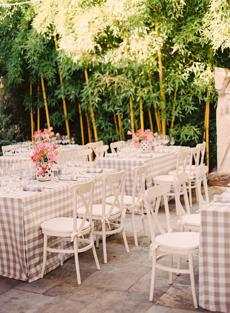 Preppy Rehearsal Dinner. Gingham WeddingAugust WeddingDinner IdeasFantasy  ...
