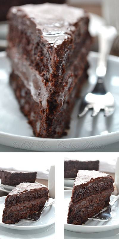 Christmas Chocolate Cake - moist and flavorful - from kitchennostalgia.com