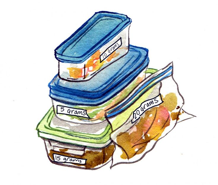 """""""Life hack No. 2: 2. Prepare a week's worth of snacks and place them in clear storage containers or bags for when you're crunched for time. If you can, label each snack with the total carb count so you know exactly what to grab..."""""""