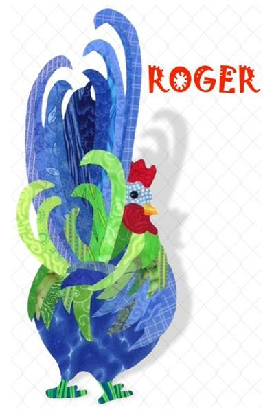 Radical Rooster Applique Quilt Pattern