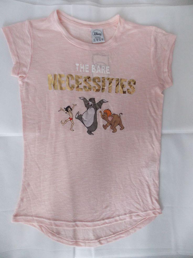 DISNEY JUNGLE BOOK Ladies T Shirt Primark THE BARE NECESSITIES Tee Top