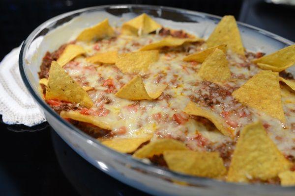 Tacogratäng med paprika
