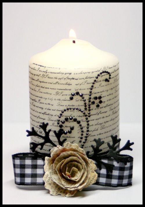 Spellbinders Paper Arts - Community - Blog - View Post - Stamped Candles and Paper Blossoms, Oh My!