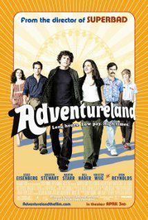 Adventureland....not really sure what the point of this one was!Film, Movie Posters, Jesse Eisenberg, Kristen Stewart, Summer Movie, Amusement Parks, Favorite Movie, Watches, Adventureland 2009