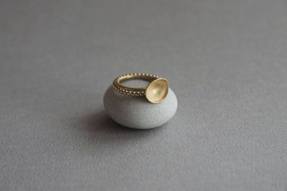 Stackable 24kt gilded rings