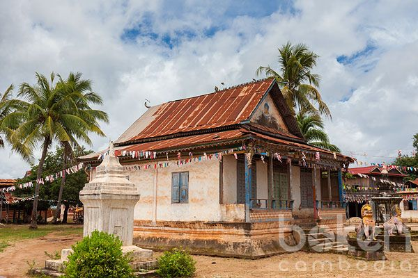 Pagoda in the logging outpost of Siem Pang   Stung Treng Province, Cambodia