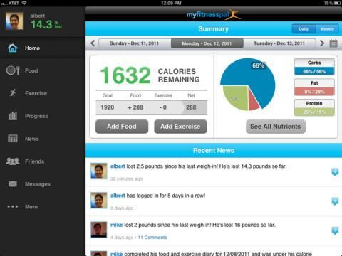 Calorie Counter and Diet Tracker by MyFitnessPal HD app for ios – Review & Download .IPA file
