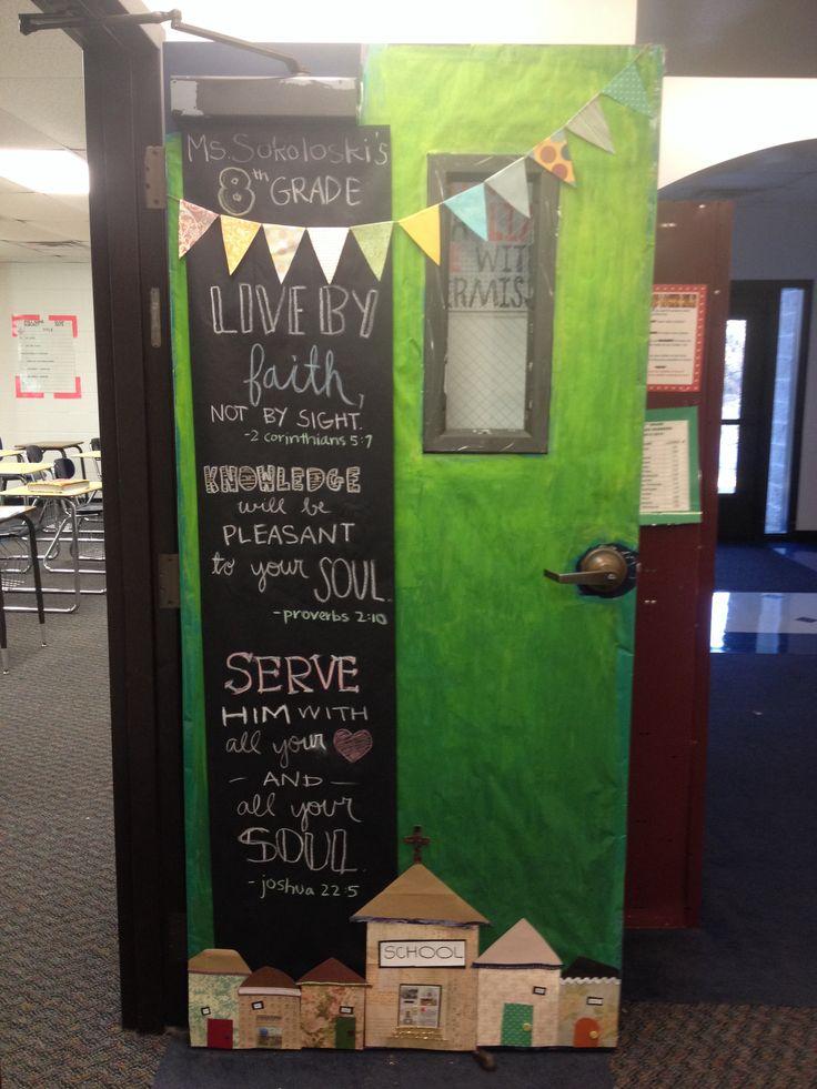 Catholic School Week Classroom Door @J O Madenjian