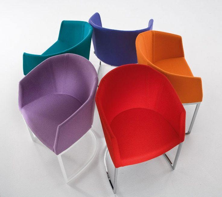 7 best Büroeinrichtung images on Pinterest Chair, Contemporary - bunte hocker designs streichen technik