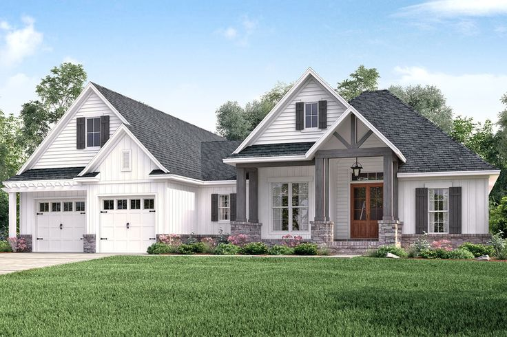 Craftsman Style House Plan - 3 Beds 2 Baths 2073 Sq/Ft Plan #430-157 Exterior - Front Elevation - Houseplans.com
