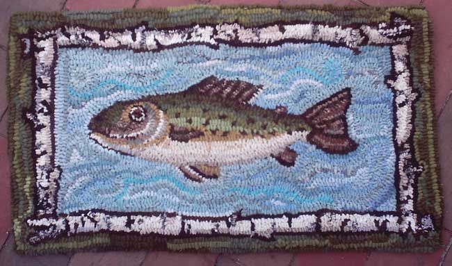 49 Best Hooked Fish Rugs Images On Pinterest Wool Area