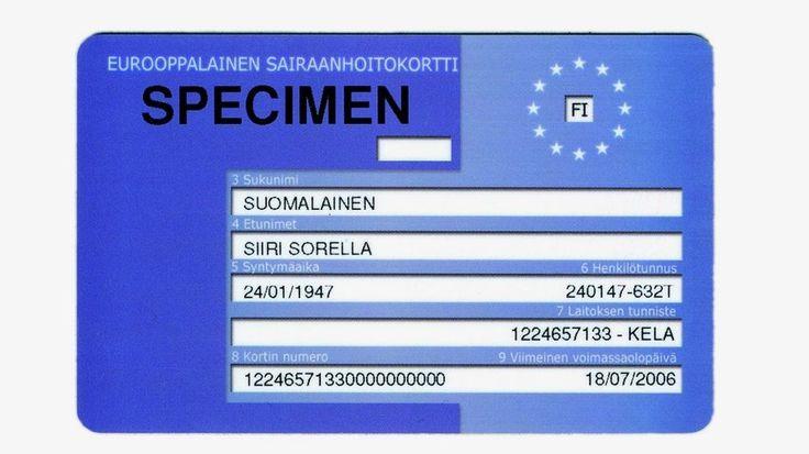 Ilmainen sairaanhoitokortti voi säästää reissussa tuhansia euroja  Sairaalareissu vieraassa maassa voi maksaa tuhansia euroja ilman eurooppalaista sairaanhoitokorttia. Ilmainen ja vaatimattoman näköinen kortti oikeuttaa välttämättömään sairaanhoitoon paikalliseen hintaan.