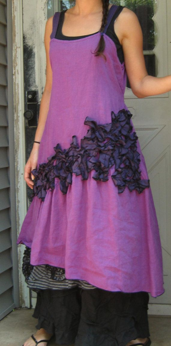 Purple New Mini Petals Dress XL by sarahclemensclothing on Etsy