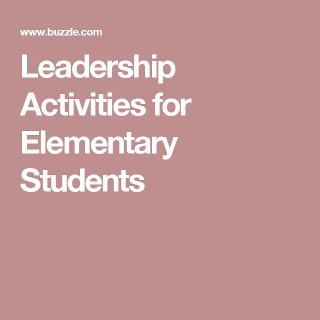 Leadership Activities for Elementary Students