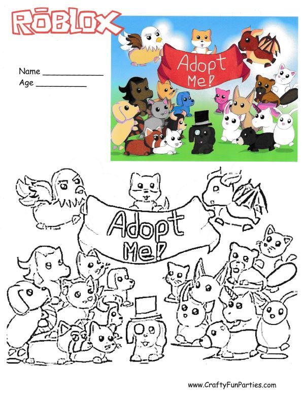 Roblox Adopt Me Coloring Page Coloring Pages Roblox Pets Drawing