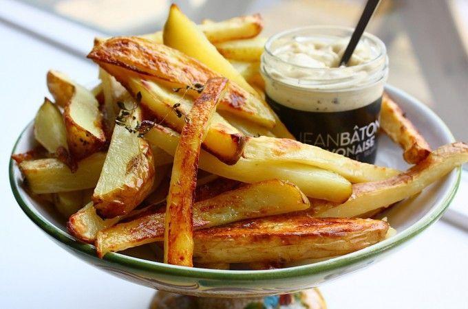Aardappeltjes uit de oven met truffelmayonaise - Francesca Kookt