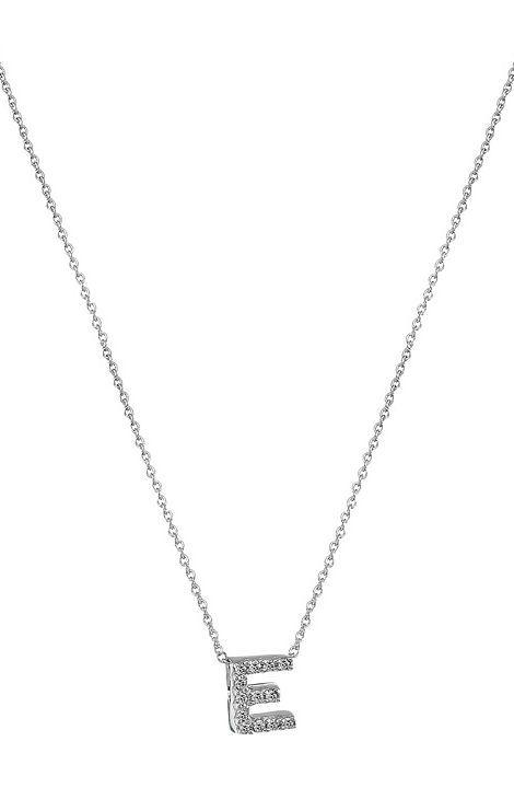 Roberto Coin Roberto Coin Diamond Initial Necklace (White Gold-E) Necklace - Roberto Coin, Roberto Coin Diamond Initial Necklace, 001634AWCHXE, Jewelry Necklace General, Necklace, Necklace, Jewelry, Gift - Outfit Ideas And Street Style 2017