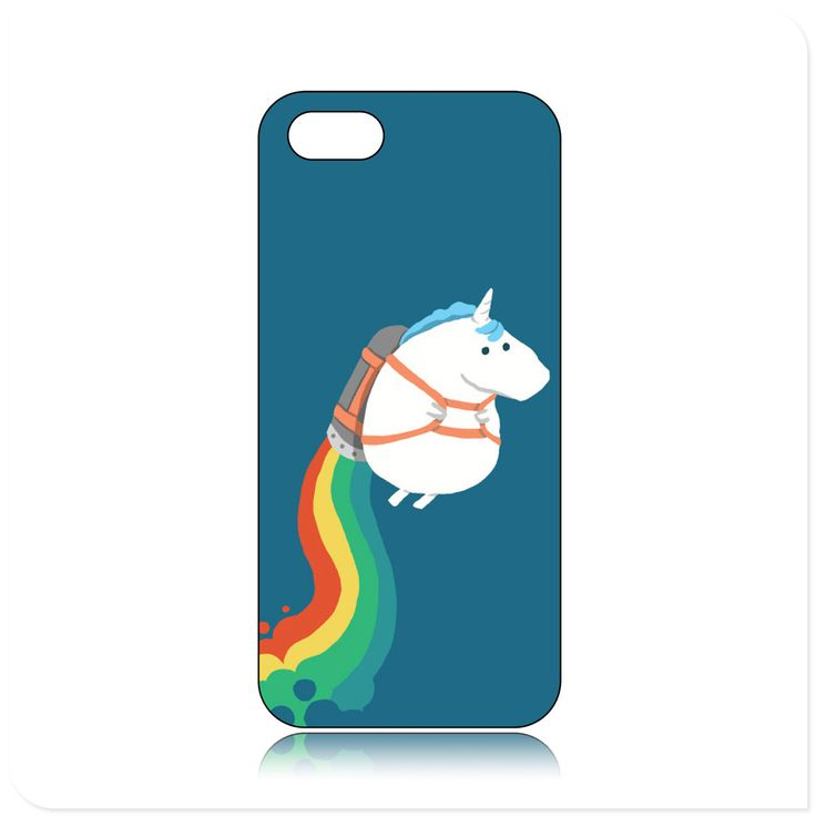 You Can See High Quality Of Fat Unicorn On Rainbow Pattern Case for iPhone5/5S BTG And Welcome Come To Buy One!
