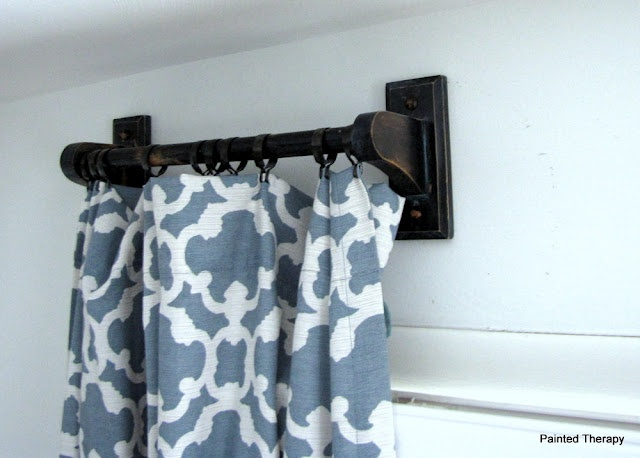 paper towel holders become curtain rods