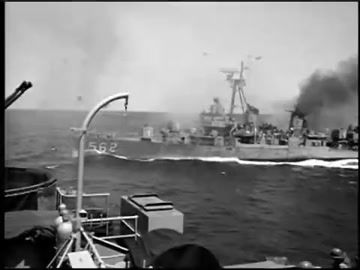 USS Robinson (DD-562) Fletcher-class destroyer in action! Moving picture (GIF)