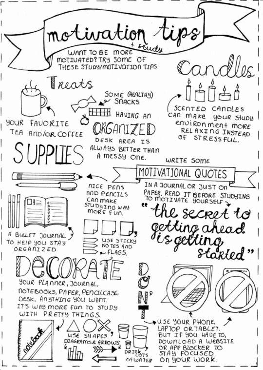 lovelylittlestudyblr: ☆ Motivation tips for studying