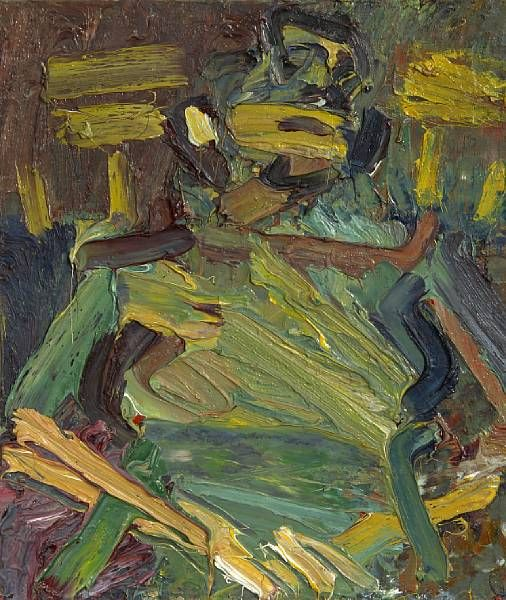 Frank Auerbach...shape and form are there...but no detail...interesting