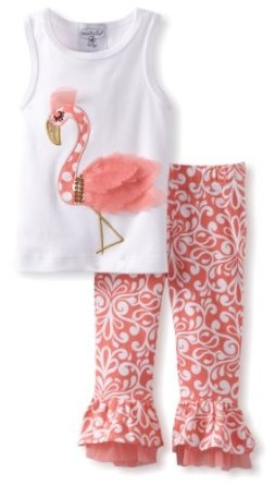 Amazon.com: Mud Pie Baby-Girls Newborn Flamingo Top and Pants Set: Clothing