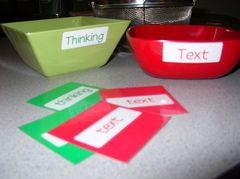 A cool activity to model think alouds and help them understand that they need to stop and think when they read...