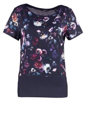 T-shirt med tryck - navy