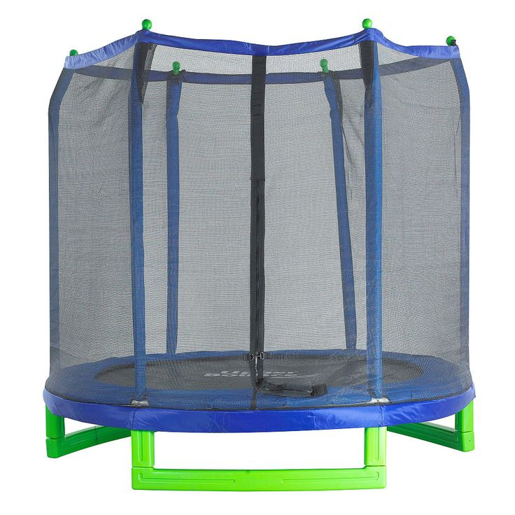 Bring fun together with health and fitness to your home and family with this Complete High Quality Upper Bounce 7 ft. Trampoline and Safety Enclosure Set! This trampoline is both durable and padded to provide hours of safe, active fun for your little bouncers. The frame is made of high-quality steel and durable, blow-molded plastic to ensure safety. Round zippered entrance enclosure net is supported by padded poles for added safety and 100% assurance of a secure fun jumping experience for…