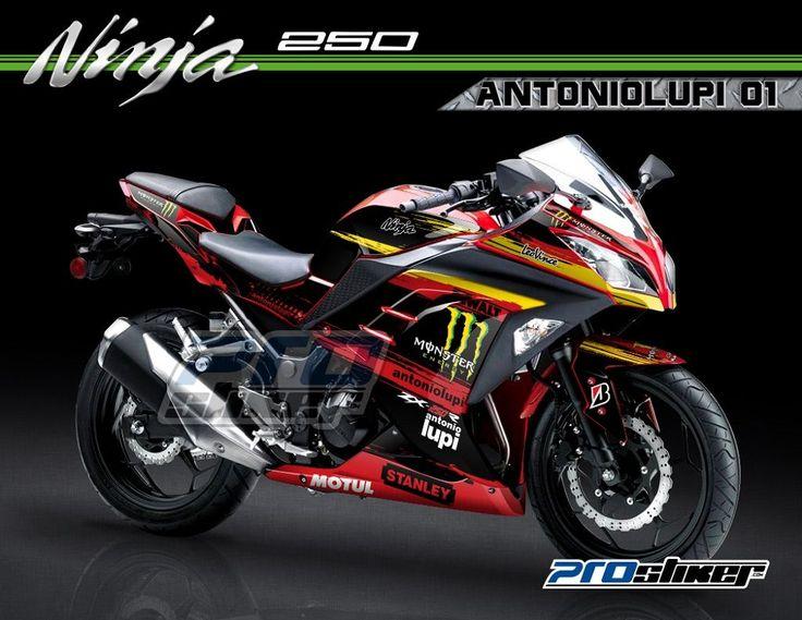 Kawasaki Ninja 250 FI Warna Merah - Desain Antoniolupi 01