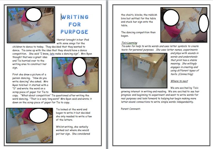 Another learning story example