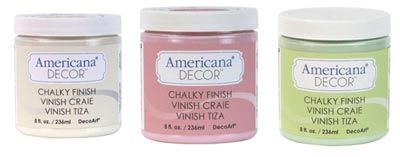 Tutorial sobre Americana Decor Chalky Finish, pintura mate efecto tiza.