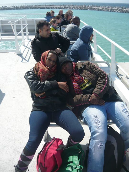 On the ferry to Robben Island, Cape Town, South Africa