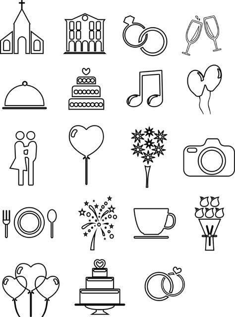 Linien Hochzeits Icons Und Vorlagen Fur Euren Ablaufplan Timeline