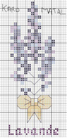 De Borduurvrouw: Borduurpatronen lavendel