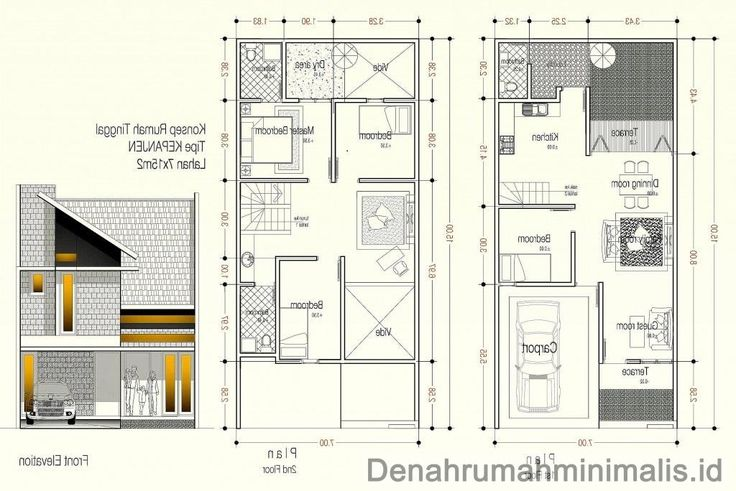 desain rumah minimalis 2 lantai 6x15