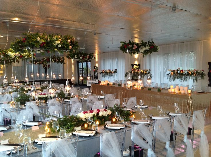Amazing setting at Glen Albyn Estate, light fittings desgine to have floral set in them..WOW