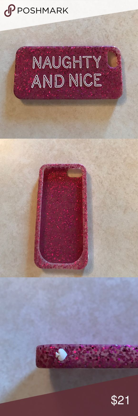Kate Spade iPhone 5S case Pink sparkle Kate Spade iPhone 5s silicone phone case. Gently used; no tears. kate spade Accessories Phone Cases